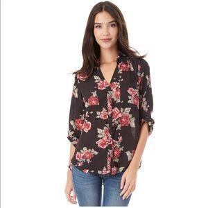 Floral black blouse